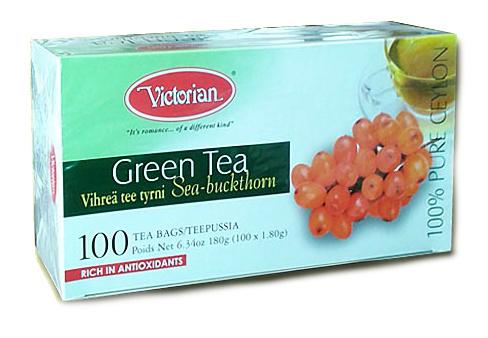 Зелёный чай с облепихой