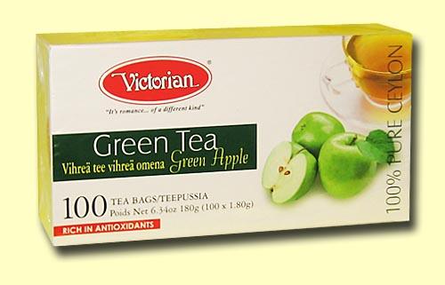 Зелёный чай с яблоками